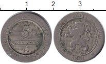 Изображение Монеты Бельгия 5 сантим 1861 Медно-никель VF