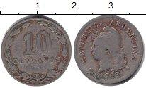Изображение Монеты Аргентина 10 сентаво 1908 Медно-никель VF
