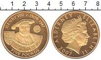Изображение Монеты Олдерни 5 фунтов 2007 Серебро Proof