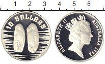 Изображение Монеты Австралия 10 долларов 1992 Серебро Proof Пингвины