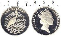 Изображение Монеты Австралия 10 долларов 1991 Серебро Proof Аист