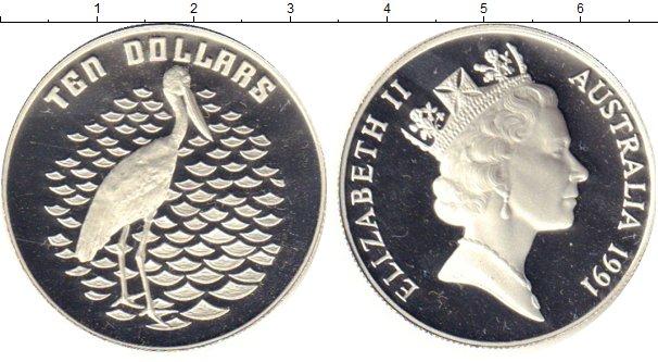 Картинка Монеты Австралия 10 долларов Серебро 1991