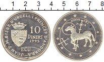Изображение Монеты Андорра 10 динерс 1995 Серебро Proof-