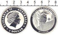 Изображение Монеты Австралия 1 доллар 2014 Серебро Proof Кукабара
