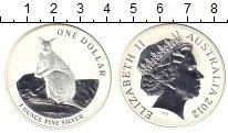 Изображение Монеты Австралия 1 доллар 2012 Серебро Proof Кенгуру