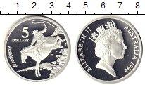 Изображение Монеты Австралия 5 долларов 1996 Серебро Proof Ковбой.лошадь