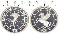 Изображение Монеты Греция 25 экю 1992 Серебро Proof