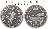 Изображение Монеты Греция 25 экю 1994 Серебро Proof