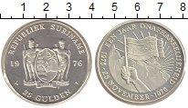 Изображение Монеты Суринам 25 гульденов 1976 Серебро Proof Годовщина независимо