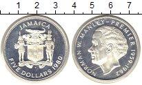 Изображение Монеты Ямайка 5 долларов 1980 Серебро Proof Норман В.Менли (КМ #
