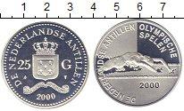 Изображение Монеты Антильские острова 25 гульденов 2000 Серебро Proof