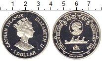 Изображение Монеты Каймановы острова 1 доллар 1994 Серебро Proof Королевский визит