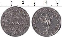 Изображение Барахолка Западно-Африканский Союз 100 франков 1975 Медно-никель XF