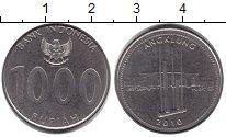 Изображение Барахолка Индонезия 1.000 рупий 2010 Медно-никель UNC