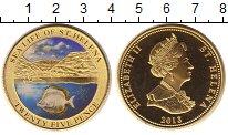 Изображение Монеты Остров Святой Елены 25 пенсов 2013  Proof Рыба (эмаль)