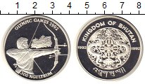Изображение Монеты Бутан 300 нгултрум 1992 Серебро Proof Олимпийсие игры в Ба