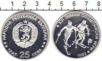 Изображение Монеты Болгария 25 лев 1990 Серебро Proof Олимпийсие игры в Ал