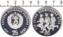 Изображение Монеты Болгария 25 лев 1990 Серебро Proof Олимпийсие игры в Ба