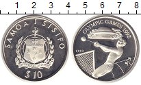 Изображение Монеты Самоа 10 долларов 1992 Серебро Proof Олимпийсие игры в Ат