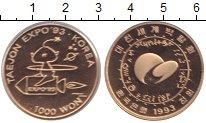 Изображение Монеты Южная Корея 1000 вон 1993 Медно-никель UNC Выстовка ЭКСПО в Тэд