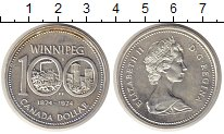 Изображение Монеты Канада 1 доллар 1974 Серебро UNC- 100 лет Виннипегу