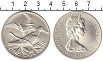 Изображение Монеты Виргинские острова 1 доллар 1973 Серебро UNC Птицы