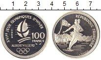Изображение Монеты Франция 100 франков 1989 Серебро Proof Олимпиада в Альберви