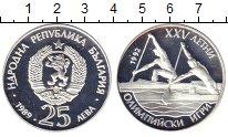 Изображение Монеты Болгария 25 лев 1989 Серебро Proof Олимпиада в Барселон