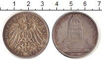 Изображение Монеты Саксония 3 марки 1913 Серебро XF 100 лет Битве при Ле