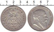 Изображение Монеты Германия Баден 5 марок 1908 Серебро XF