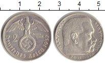 Изображение Монеты Третий Рейх 2 марки 1937 Серебро VF