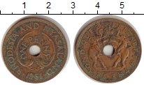 Изображение Монеты Великобритания Родезия 1 пенни 1961 Медь VF