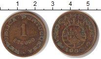 Изображение Монеты Мозамбик 1 эскудо 1969 Медь VF