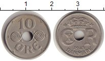 Изображение Монеты Дания 10 эре 1941 Медно-никель UNC-