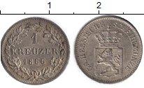 Изображение Монеты Гессен-Дармштадт 1 крейцер 1866 Серебро UNC-