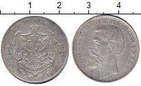 Изображение Монеты Румыния 1 лей 1901 Серебро XF-