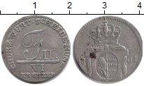 Изображение Монеты Вюртемберг 6 крейцеров 1804 Серебро XF-
