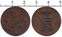 Изображение Монеты Саксония 3 пфеннига 1832 Медь XF-