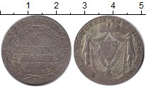 Изображение Монеты Рейсс-Оберграйц 1/6 талера 1808 Серебро VF