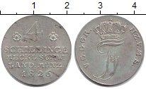 Изображение Монеты Мекленбург-Шверин 4 шиллинга 1826 Серебро UNC-