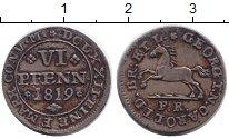 Изображение Монеты Брауншвайг-Вольфенбюттель 6 пфеннига 1819 Серебро XF