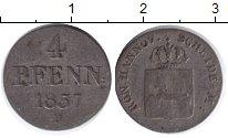 Изображение Монеты Ганновер 4 пфеннига 1837 Серебро VF