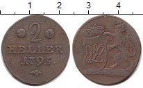 Изображение Монеты Гессен-Кассель 2 хеллера 1795 Медь XF