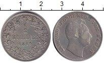 Изображение Монеты Баден 1/2 гульдена 1848 Серебро XF-
