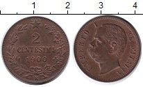Изображение Монеты Италия 2 сентесима 1900 Медь UNC-