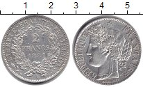 Изображение Монеты Франция 2 франка 1881 Серебро AUNC А