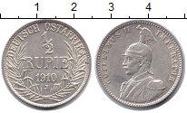 Изображение Монеты Немецкая Африка 1/2 рупии 1910 Серебро UNC J