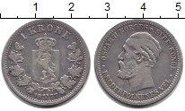 Изображение Монеты Норвегия 1 крона 1877 Серебро VF