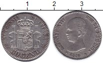 Изображение Монеты Испания 50 сентаво 1889 Серебро UNC-