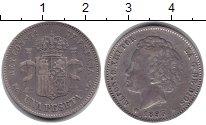 Изображение Монеты Испания 1 песета 1893 Серебро VF